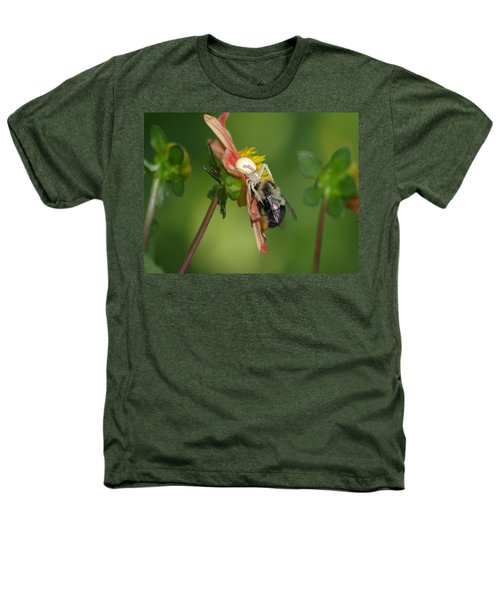 Goldenrod Spider Heathers T-Shirt by James Peterson