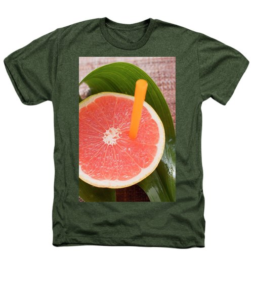 Half A Pink Grapefruit With A Straw Heathers T-Shirt