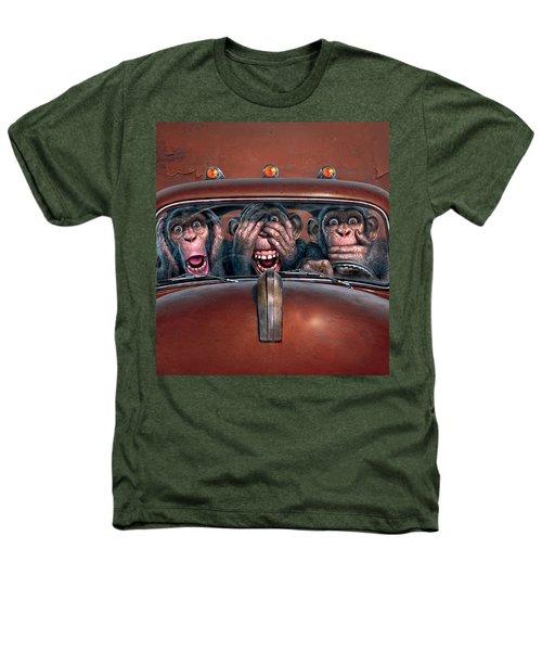 Hear No Evil See No Evil Speak No Evil Heathers T-Shirt by Mark Fredrickson
