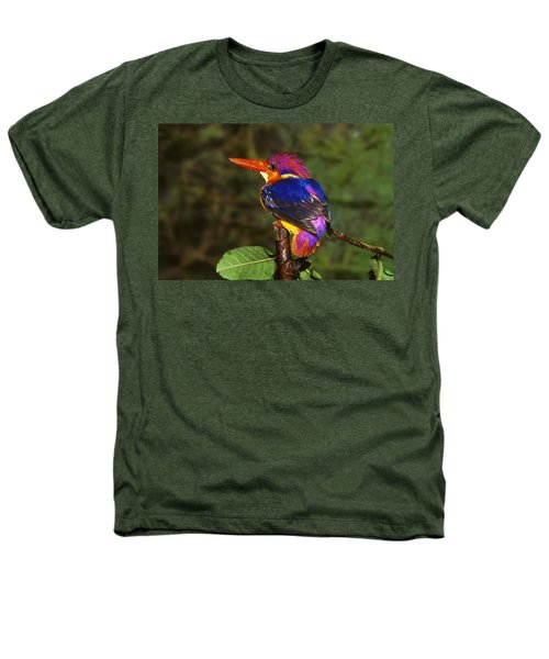 India Three Toed Kingfisher Heathers T-Shirt by Anonymous