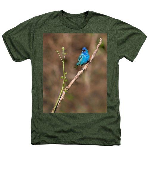 Indigo Bunting Portrait Heathers T-Shirt by Bill Wakeley