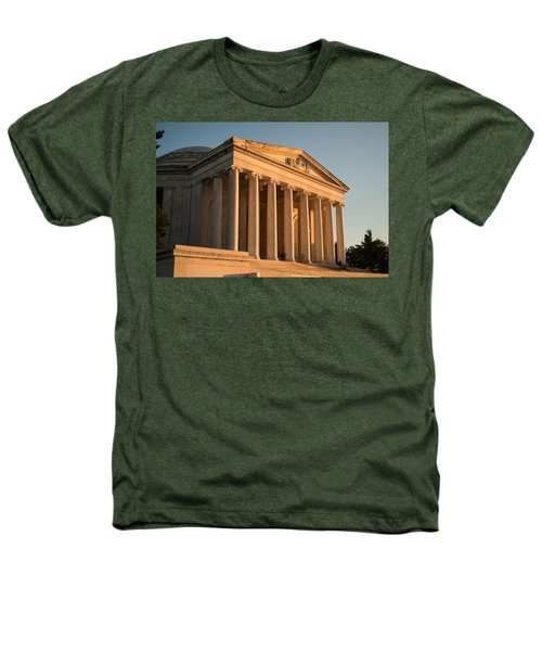 Jefferson Memorial Sunset Heathers T-Shirt by Steve Gadomski