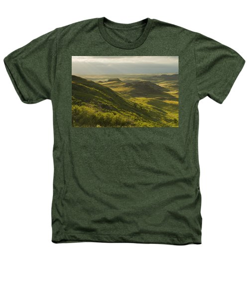 Killdeer Badlands In The East Block Of Heathers T-Shirt by Dave Reede