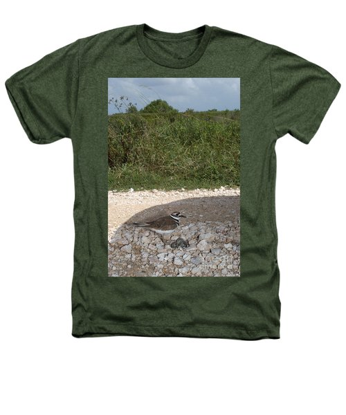 Killdeer Defending Nest Heathers T-Shirt