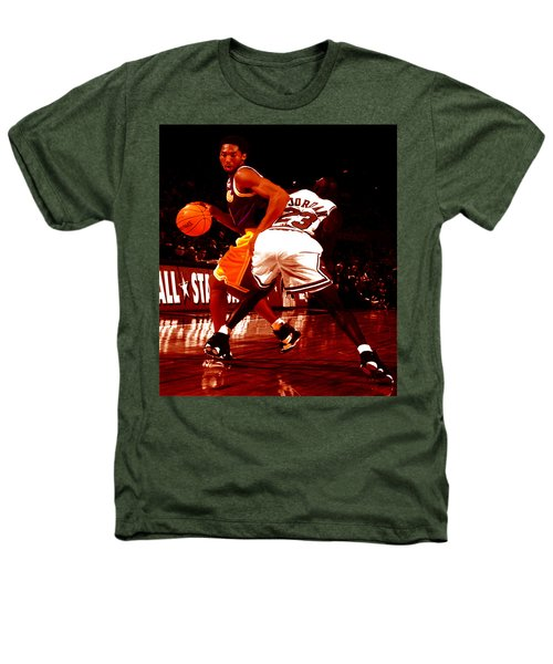 Kobe Spin Move Heathers T-Shirt by Brian Reaves