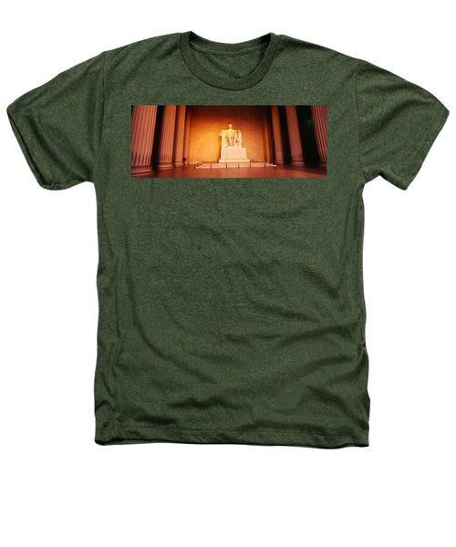 Low Angle View Of A Statue Of Abraham Heathers T-Shirt by Panoramic Images