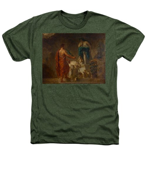 Lycurgus Consulting The Pythia Heathers T-Shirt by Eugene Delacroix