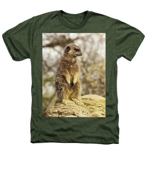 Meerkat On Hill Heathers T-Shirt