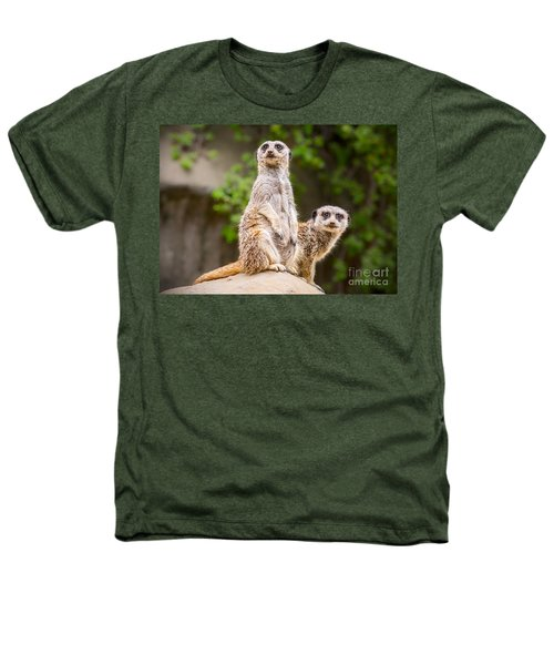Meerkat Pair Heathers T-Shirt by Jamie Pham
