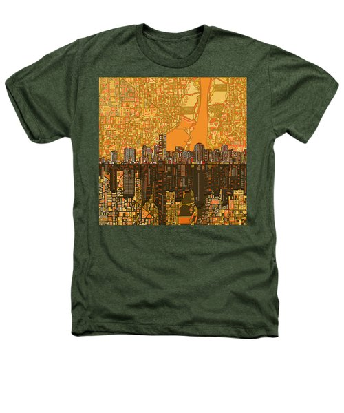 Miami Skyline Abstract 5 Heathers T-Shirt