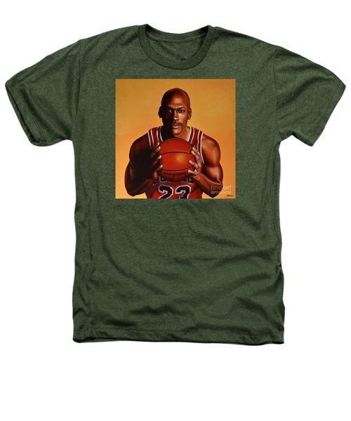 Michael Jordan 2 Heathers T-Shirt by Paul Meijering