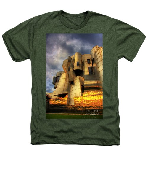 Minneapolis Skyline Photography Weisman Museum Heathers T-Shirt by Wayne Moran