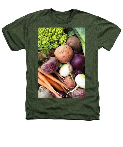Mixed Veg Heathers T-Shirt by Anne Gilbert