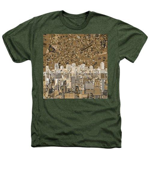 Nashville Skyline Abstract 2 Heathers T-Shirt by Bekim Art
