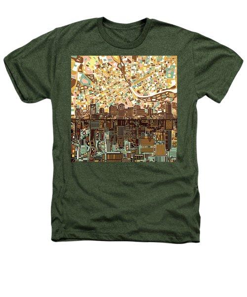 Nashville Skyline Abstract 4 Heathers T-Shirt by Bekim Art