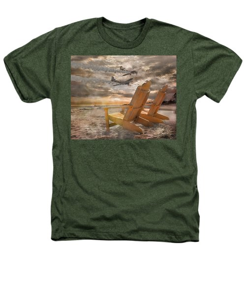 Pairs Along The Coast Heathers T-Shirt by Betsy Knapp