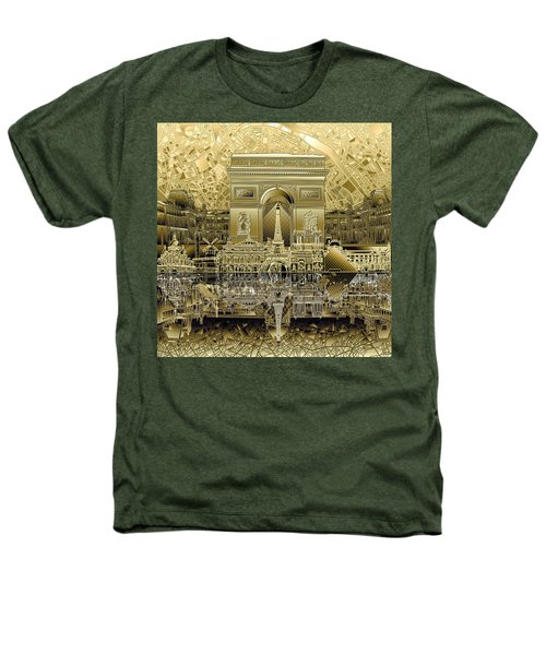 Paris Skyline Landmarks 4 Heathers T-Shirt