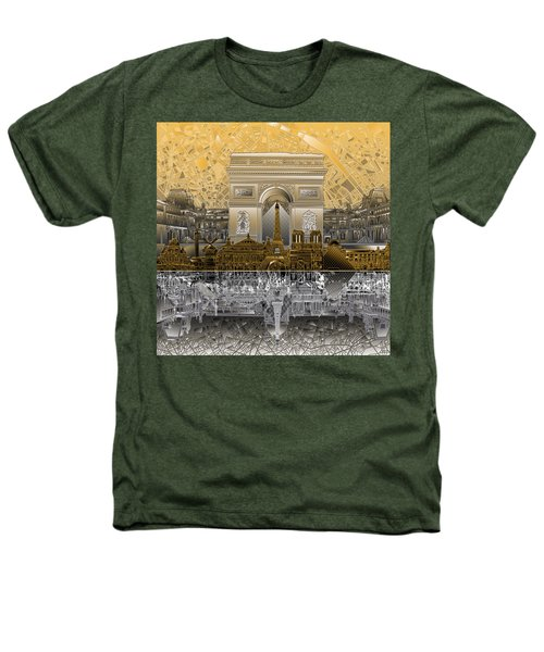 Paris Skyline Landmarks 5 Heathers T-Shirt