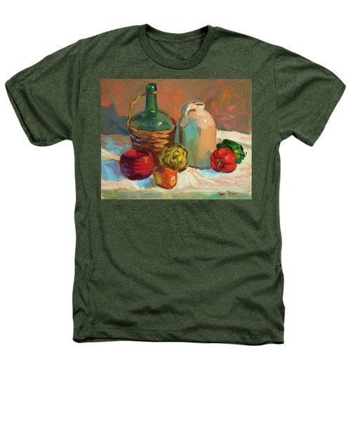 Pottery And Vegetables Heathers T-Shirt by Diane McClary