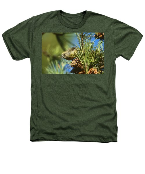 Red Crossbill Eating Cone Seeds Heathers T-Shirt