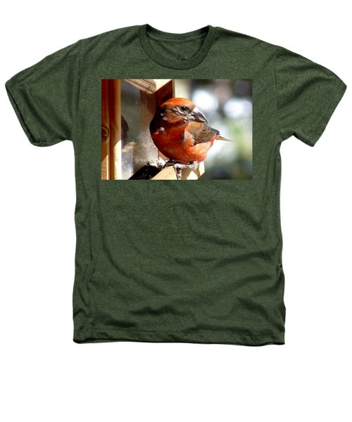Red Crossbill Heathers T-Shirt by Marilyn Burton