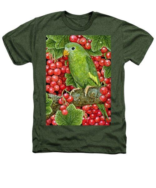 Redcurrant Parakeet Heathers T-Shirt by Ditz