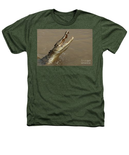 Salt Water Crocodile Australia Heathers T-Shirt by Bob Christopher