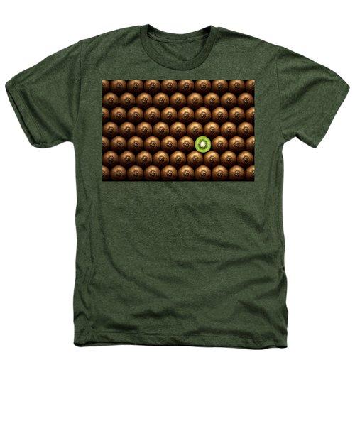 Sliced Kiwi Between Group Heathers T-Shirt by Johan Swanepoel