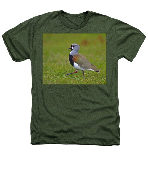 Strutting Lapwing Heathers T-Shirt by Tony Beck