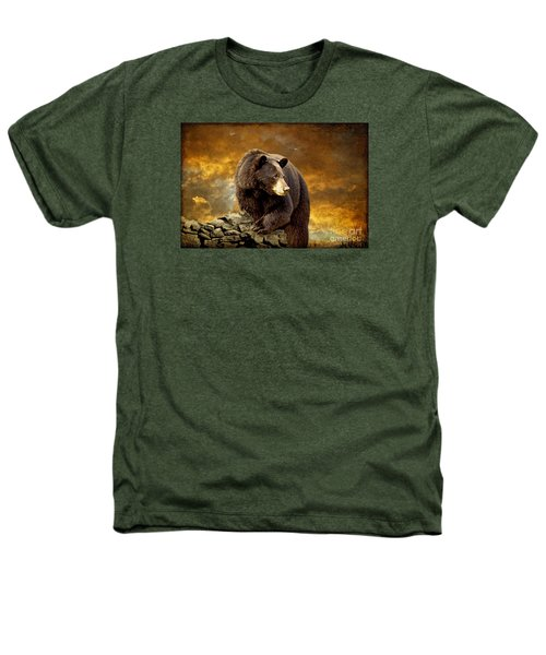 The Bear Went Over The Mountain Heathers T-Shirt