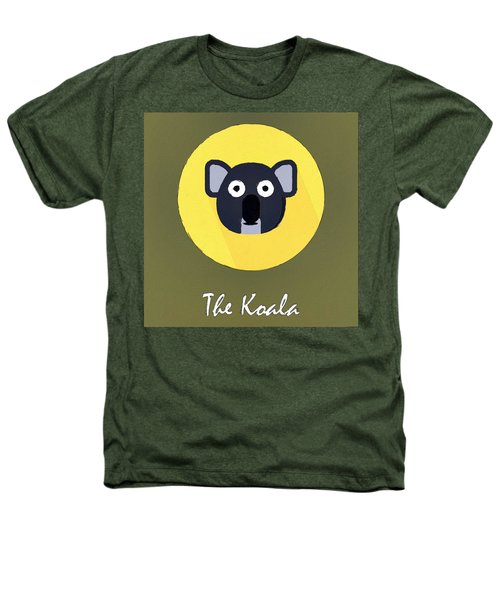 The Koala Cute Portrait Heathers T-Shirt by Florian Rodarte