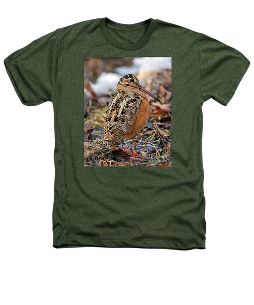 Timberdoodle The American Woodcock Heathers T-Shirt by Timothy Flanigan