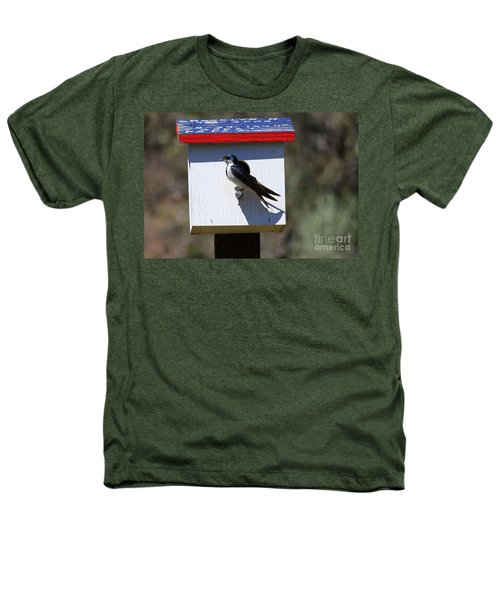 Tree Swallow Home Heathers T-Shirt by Mike  Dawson