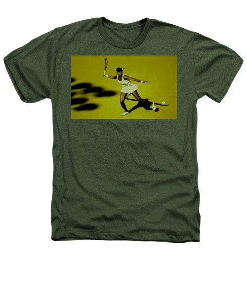 Venus Williams In Action Heathers T-Shirt by Brian Reaves
