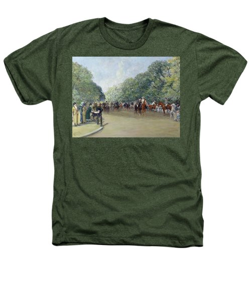 View Of Hyde Park With Figures On Rotten Row  Heathers T-Shirt by Albert Jnr Ludovici