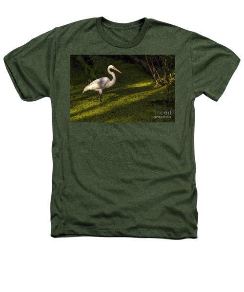 White Egret Heathers T-Shirt