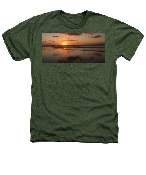 Wildwood Beach Sunrise Heathers T-Shirt by David Dehner