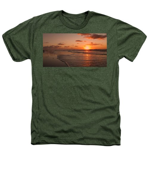 Wildwood Beach Sunrise II Heathers T-Shirt by David Dehner