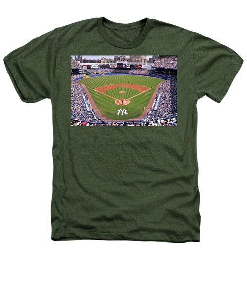 Yankee Stadium Heathers T-Shirt by Allen Beatty