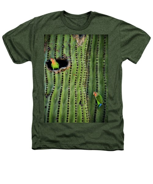 Lovebirds And The Saguaro  Heathers T-Shirt