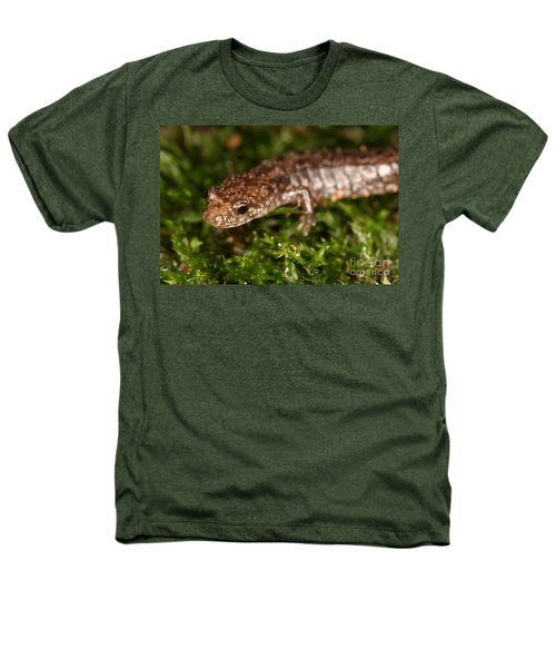 Red-backed Salamander Heathers T-Shirt by Ted Kinsman