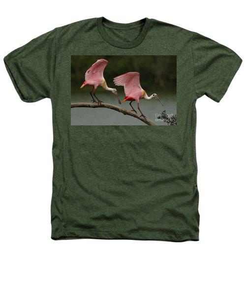 Rosiette Spoonbills Heathers T-Shirt