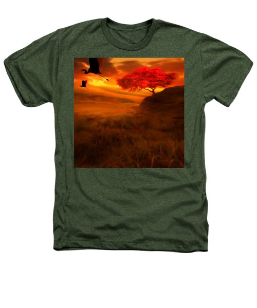 Sunset Duet Heathers T-Shirt by Lourry Legarde