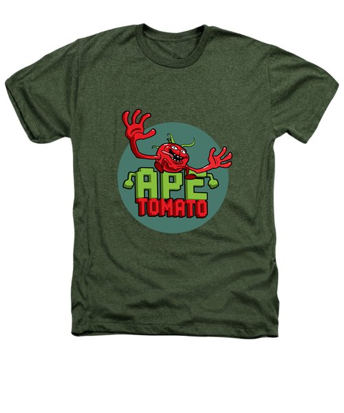 Ape Tomato Grey Green Heathers T-Shirt by Nicolas Palmer