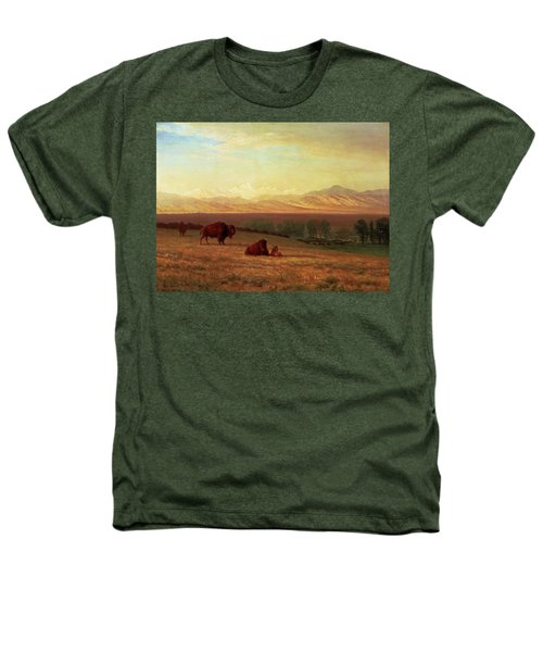 Buffalo On The Plains Heathers T-Shirt by MotionAge Designs