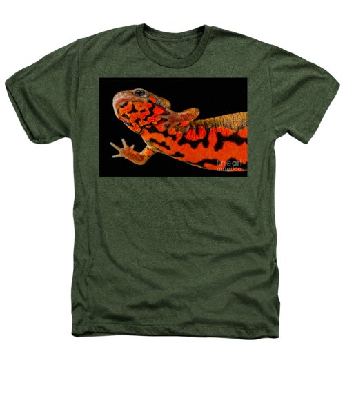 Chuxiong Fire Belly Newt Heathers T-Shirt by Dant� Fenolio