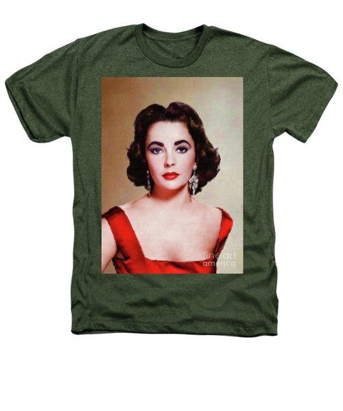 Elizabeth Taylor Hollywood Actress Heathers T-Shirt by Mary Bassett
