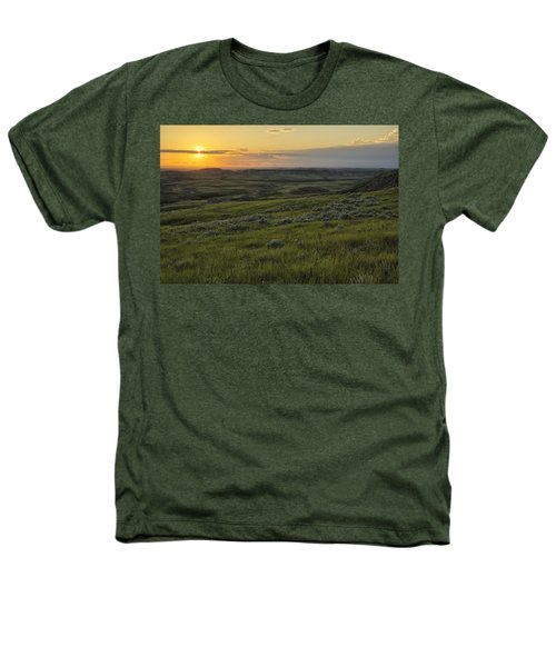 Sunset Over Killdeer Badlands Heathers T-Shirt