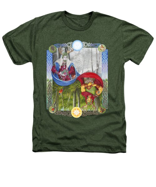 The Holly King And The Oak King Heathers T-Shirt by Melissa A Benson