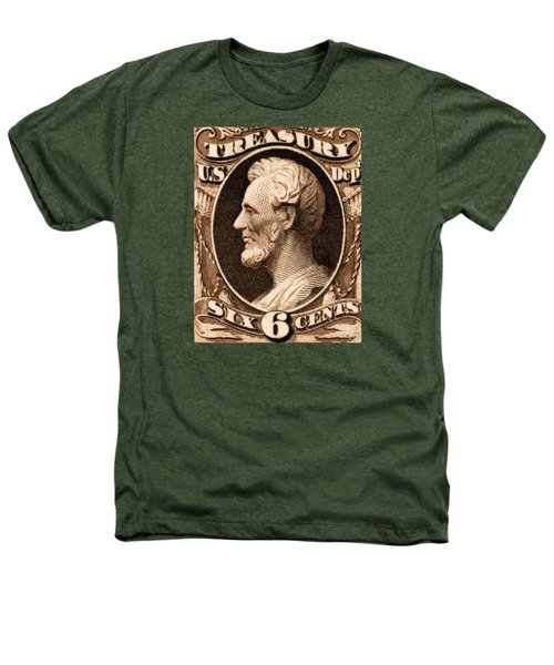 1875 Abraham Lincoln Treasury Department Stamp Heathers T-Shirt by Historic Image